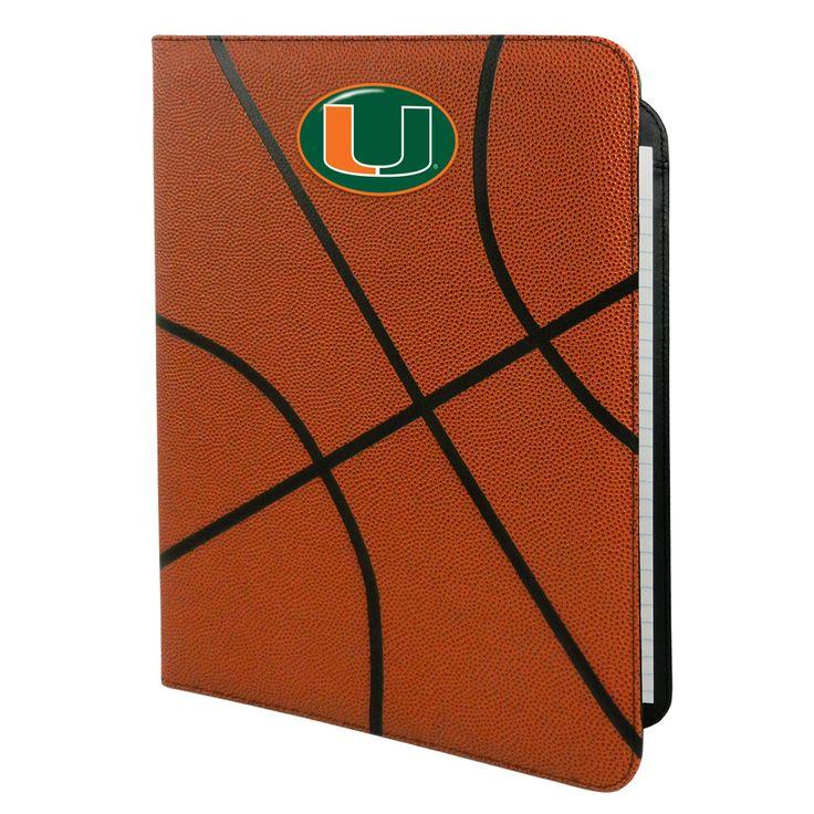 Miami Hurricanes Basketball Leather Portfolio