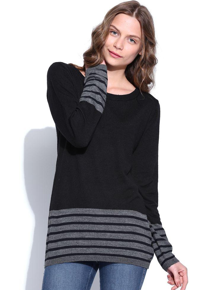 US-Polo-Assn-Women-Black-Sweater