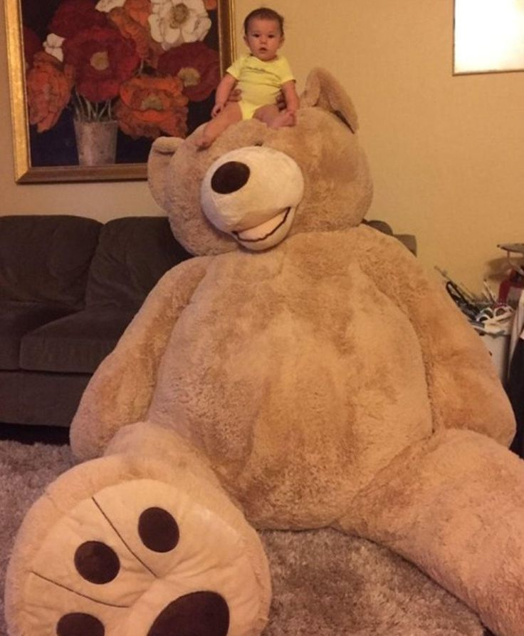 The Internet Is Freaking Out About This Baby's Giant Teddy Bear