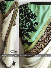Sari Ethnic Indian Dress Bollywood Georgette New Saree Wedding Partywear KT-3002