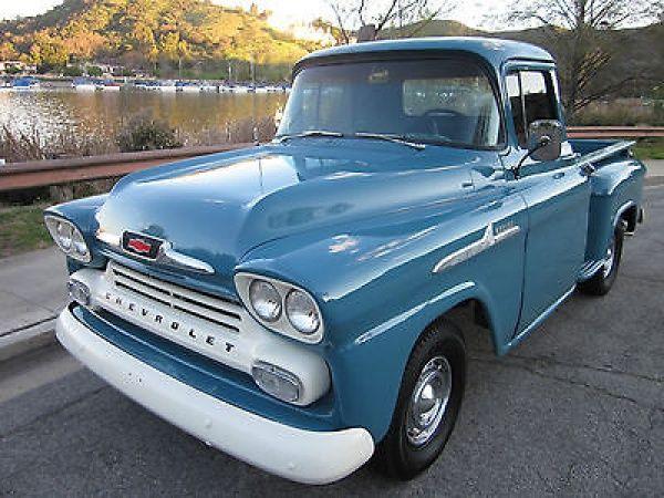 1958 Chevy Apache Shortbed BEAUTIFUL ORIGINAL TRUCK w/crateV8 & a/c!!!