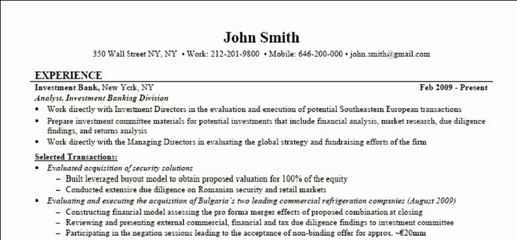 27 investment banking resume example in 2020 investing