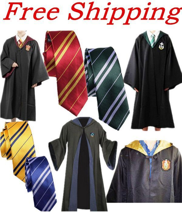 $19.49  from China  Harry Potter Adult Cloak Cape Gryffindor/Slytherin/Hufflepuff/Ravenclaw Robe&Tie #New #Cape