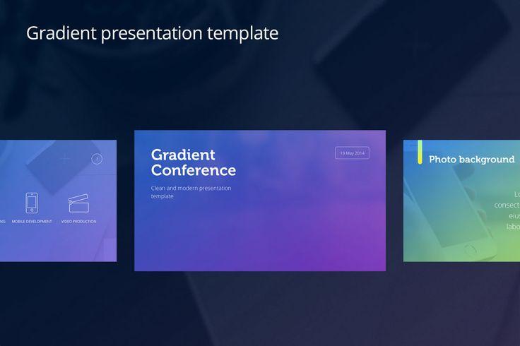 Template de PowerPoint Apresentação Gradiente - IA Produtos