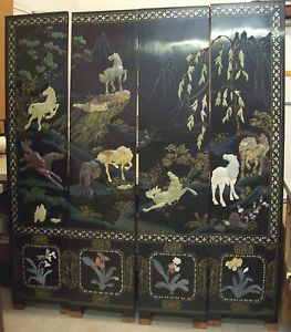 Antique Chinese Screen eBay
