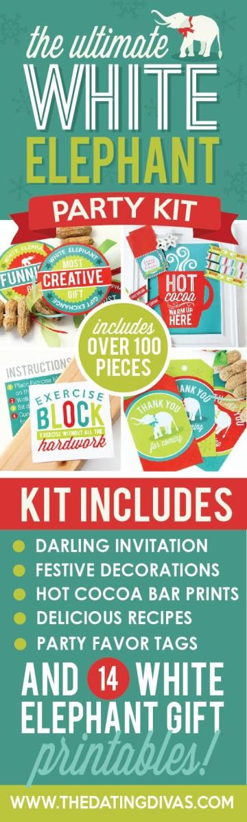 Planning a White Elephant Party? Make it the talk of the Holiday Season with this PLANNED for you Kit! Includes everything you need to host the BEST White Elephant Party, EVER. #affiliatelink