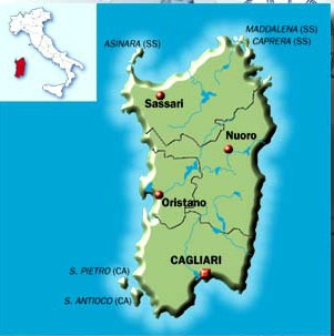 City and road map information, Route planner and Map, Sardinia (Sardegna) Region, Italy, #20 on map