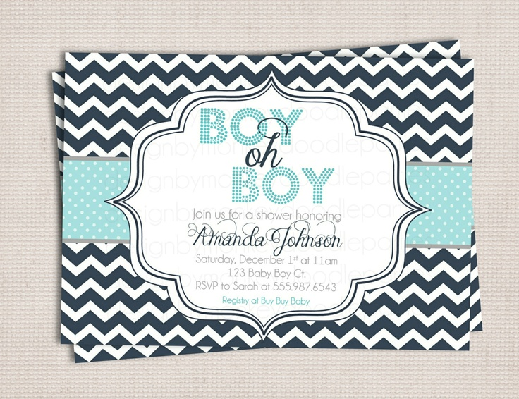 48 best images about baby shower on pinterest | boy baby showers, Baby shower invitations