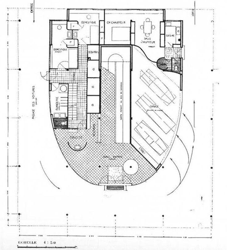 spesso a Villa Savoye es una composición cúbica, concebida como un objeto  ZD14