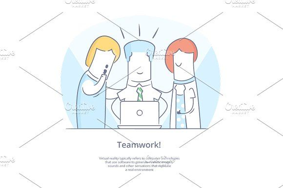 People working together with laptop by Artur Stotch on @creativemarket