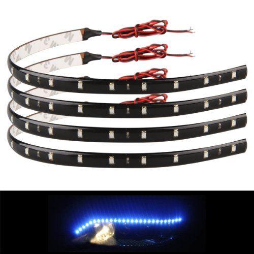 Elegant x KFZ CM LED Lichterkette Strip Streifen blau Wasserdicht V