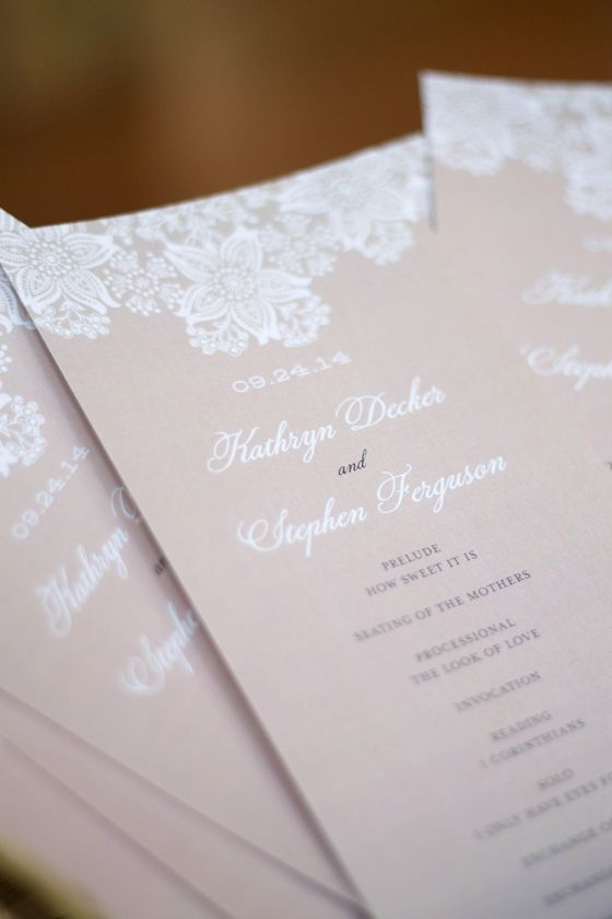 Best 25 wedding programs vintage ideas on pinterest diy vintage lovely blush pink and lace wedding programs perfect for a vintage wedding solutioingenieria Choice Image