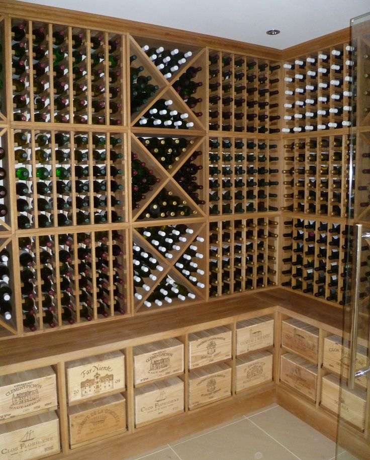 Solid Oak Corner Wine Cellar