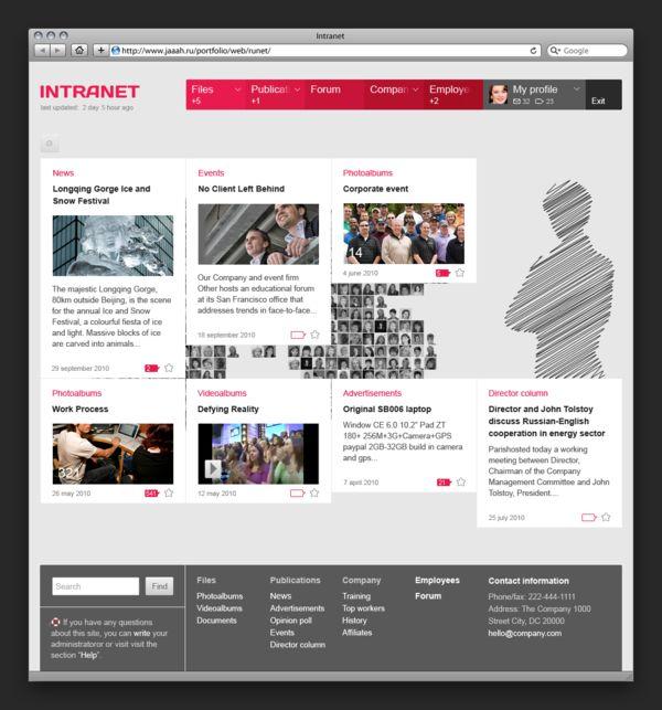 Best 25 intranet portal ideas on pinterest intranet for Portale design