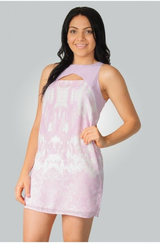 """""""Picasso"""" Shift Dress- Pretty Purple & White design! Lined! Limited Stock 90% Discount. Shop Now!"""