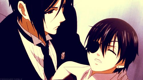 Sebastian x Ciel. They are just soo cute together!! Hehe just mentioned i posted this twice xD