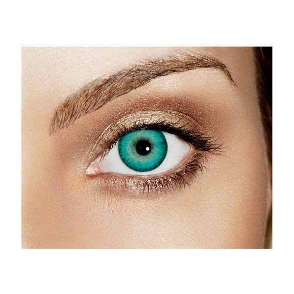 Caribbean Aqua Non Prescription Color Contact Lenses Freshlook... ❤ liked on Polyvore