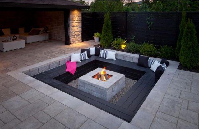 Gartengestaltung 2014 In 11 Einzigartigen Modernen Trends Dekoration Ideen Feuerstelle Garten Hintergarten Outdoor Feuerstelle