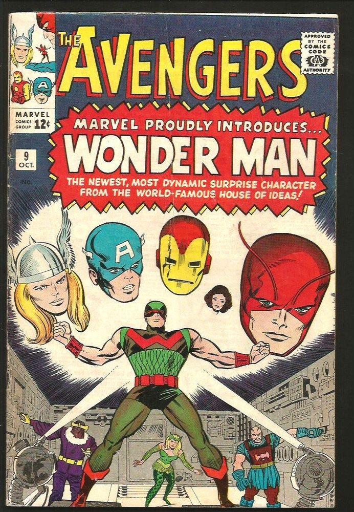AVENGERS #9 Fine Intro 1st WONDERMAN Key1964 Heck Ayers Marvel Comics 1st Series