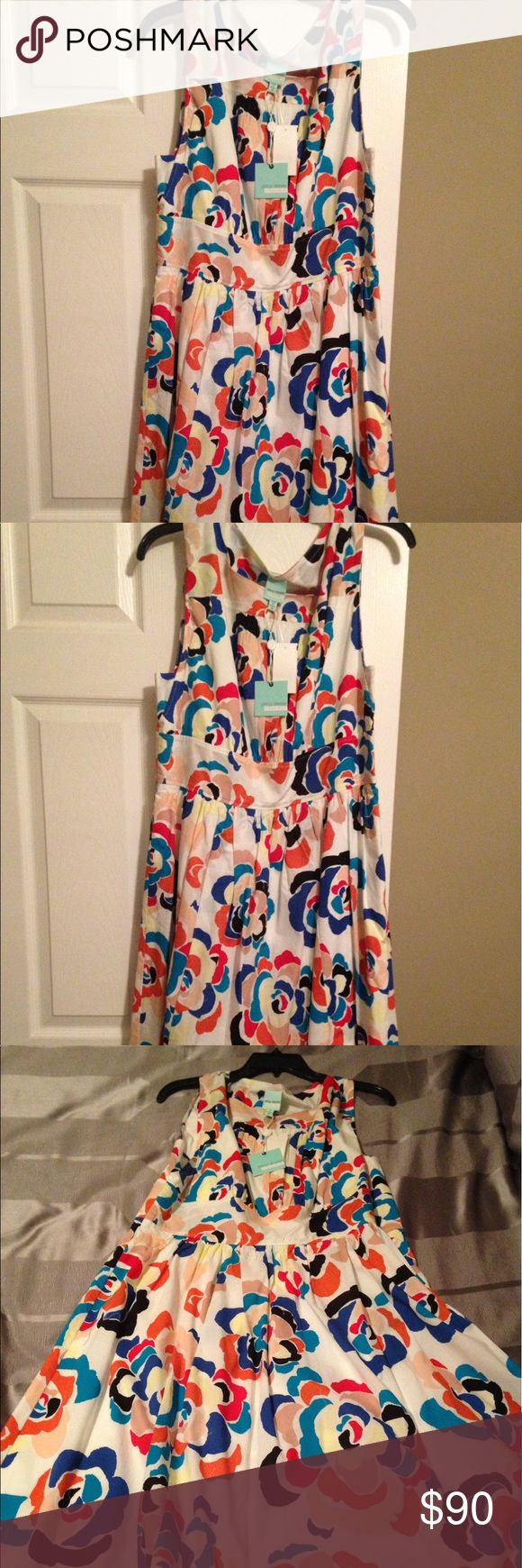 New multicolor flower Tracy Reese dress New multicolor flower Tracy Reese dress with front pockets. Never worn Tracy Reese Dresses