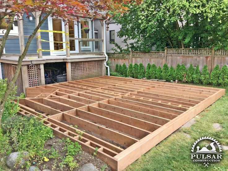 Groundlevel deck framing ground level deck how to