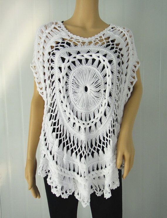 Mandala Crochet Vest | Ganchillo, Horca y Tejido