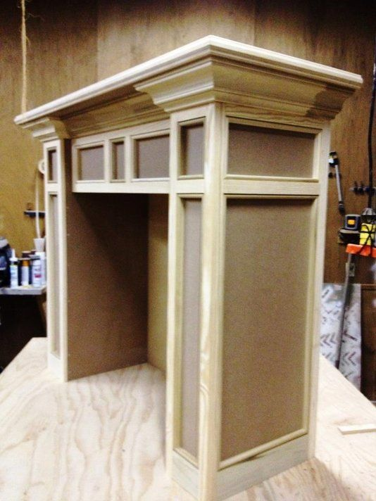Custom Made Electric Fireplace Mantel