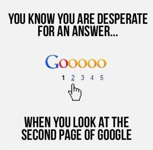 You know you are desperate when .... #SEO