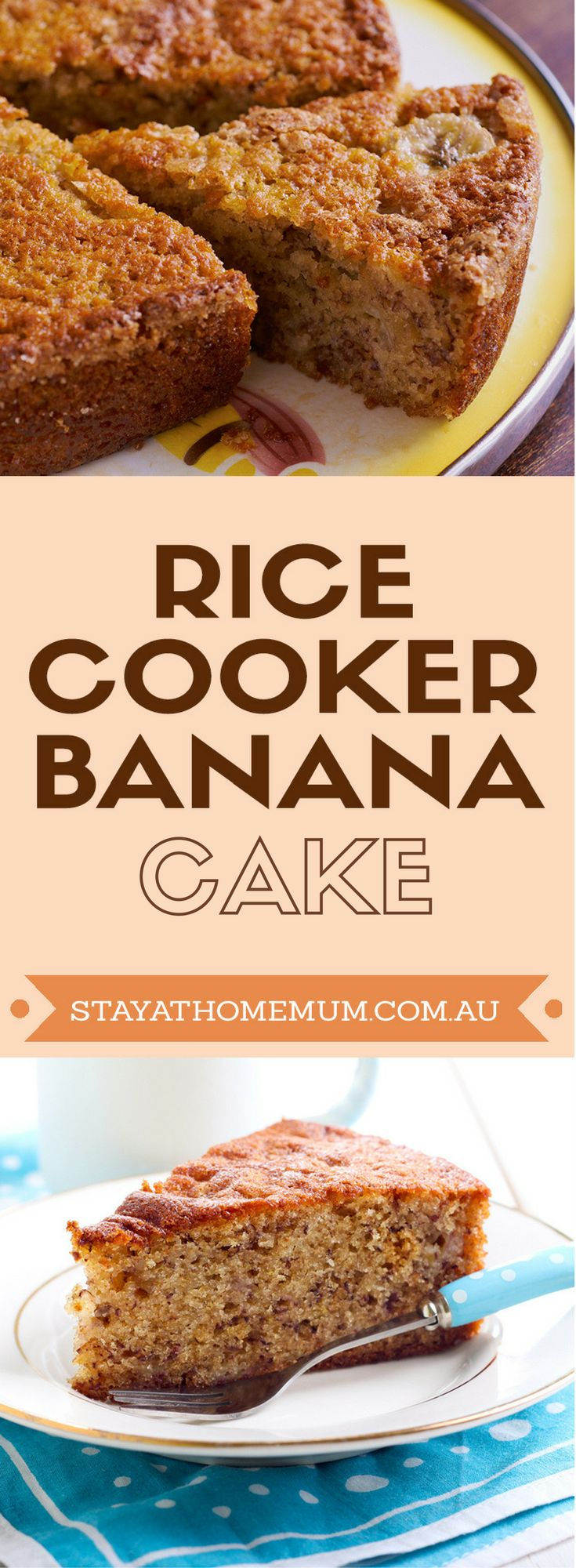 Bored and got nothing to do on a winter night? Try this Rice Cooker Banana Cake recipe in your rice cooker!