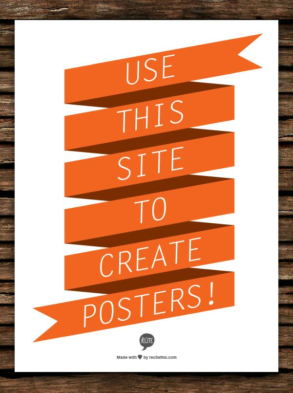 Use This Site To Create Posters Products I Love Make Your Own Poster Custom Clroom Decor