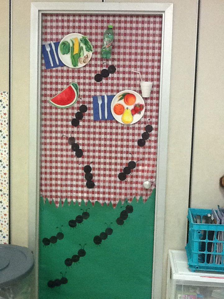 Classroom Decoration Ideas For Summer : Summer picnic classroom door ideas for school
