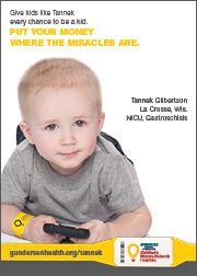 Children's Miracle Network Hospitals Hero Tannek Gilbertson
