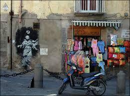Banksy a maronn ca pistol #Graffiti