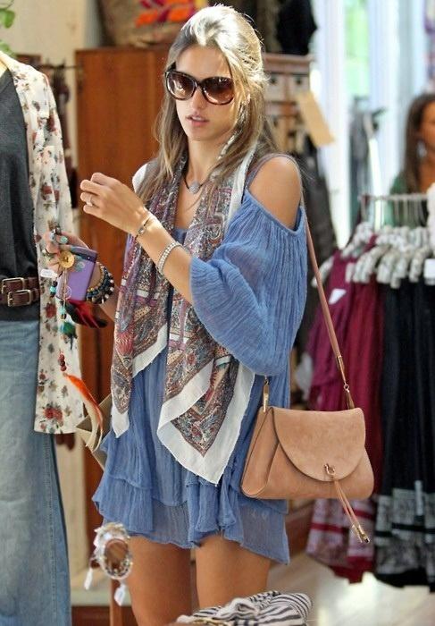 Alessandra Ambrosio. #bohochic #fashion #style #trends