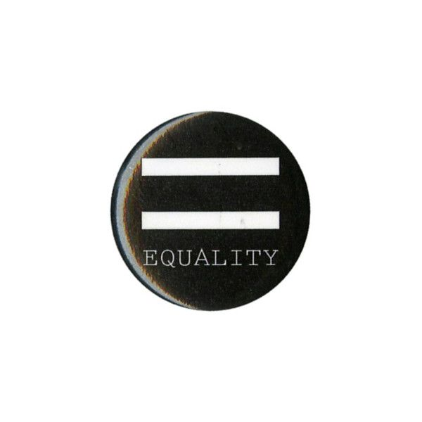 Equality Pin | Hot Topic ($1.59) ❤ liked on Polyvore featuring jewelry, brooches, pins, fillers, & - fillers - misc., accessories, pin brooch, pin jewelry and button jewelry