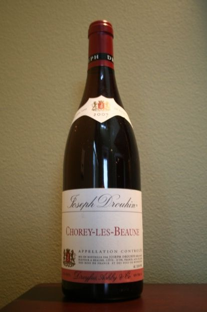 2007 Joseph Drouhin Chorey-les-Beaune. $20 at K and L Wines.