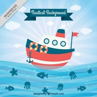 Fondo de barco navegando