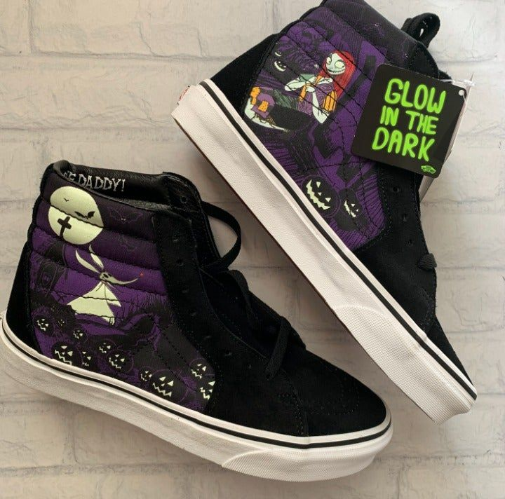 Disney X Vans Sk8 Hi Nightmare Before Christmas Jack S Lament Womens Size 8 Mens Size 6 5 Step Into Imagination With The Cha Vans Sk8 Vans Vans Style Women