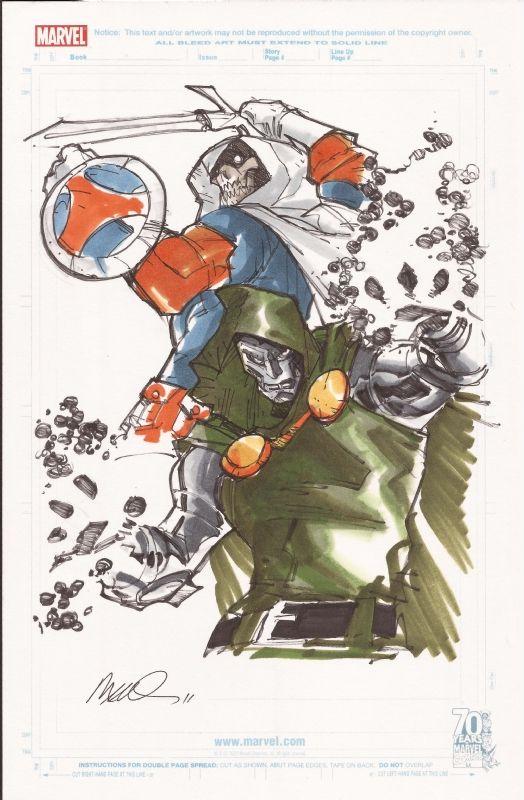 Dr Doom and Task Master by Humberto Ramos