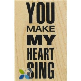 """""""You make my heart sing!"""" Make your own Valentine's Day cards with this sweet rubber stamp.   Shop Hobby Lobby"""