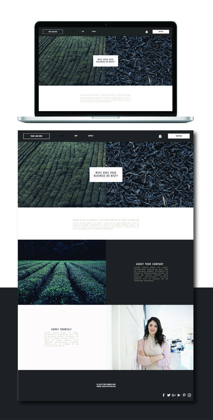 Pre Made Wix Website Template Design Are You An Entrepreneur With An Online Shop This Website Templat Website Template Design Website Template Wix Web Design