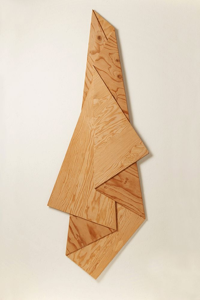 """HARRY ROSEMAN Folded Plywood 1, 75""""x30.25""""x1.25"""", AC 1/4"""" plywood (constructed from a single sheet of plywood), 2011. There's something about this..."""