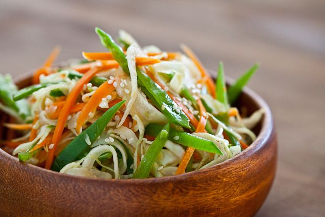 sesame and sunflower seeds asian slaw with ponzu dressing steamy ...