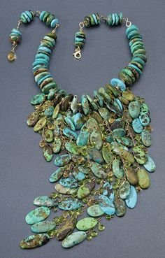 Turquoise and chrysocolla |
