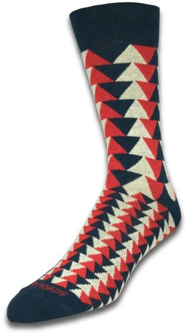 Triangles Red/Navy/Ivory