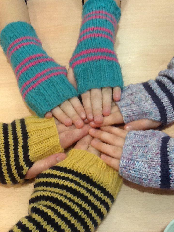 Handmade knitted wrist warmers