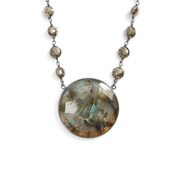 Women's Ela Rae Morah Semiprecious Stone Necklace (18.955 RUB) ❤ liked on Polyvore featuring jewelry, necklaces, semi precious stone necklace, stud necklace, semi precious stone jewellery, semi precious stone jewelry and collar necklace