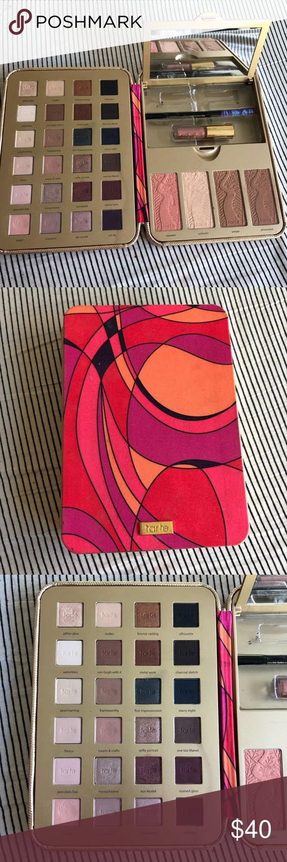 Tarte Palette The 2016 Tarte holiday palette! Pretty paintbox. In great condition, barely used but the mascara that should come with it is gone! tarte Makeup