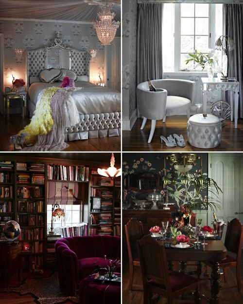 Dita von teese home would totally take my clothes off to for Burlesque bedroom ideas