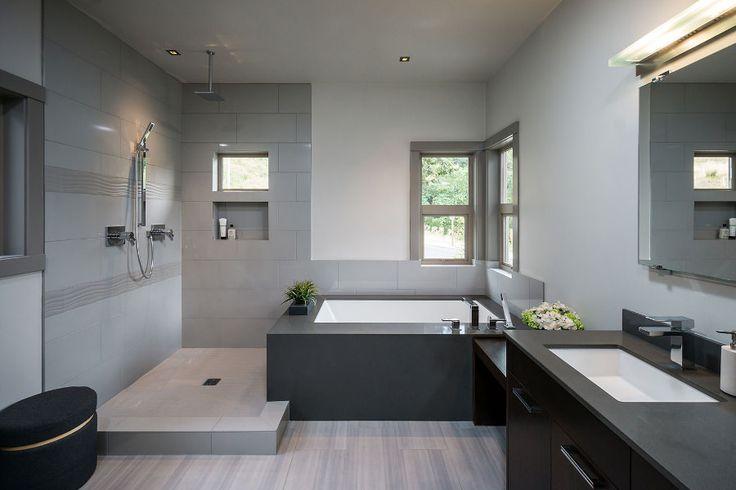Spa Like Grey Bathroom